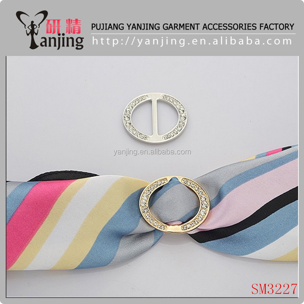 Gold or silver Zinc Alloy Scarf Buckle