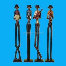handmade paintable resin statue jazz figurines for sale