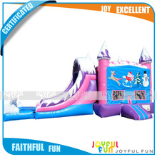 2017 good quality inflatable Christmas theme slide cheap price kids indoor plastic slide for sale