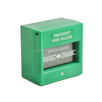 Green Manual Call Point Emergency Break Glass Button