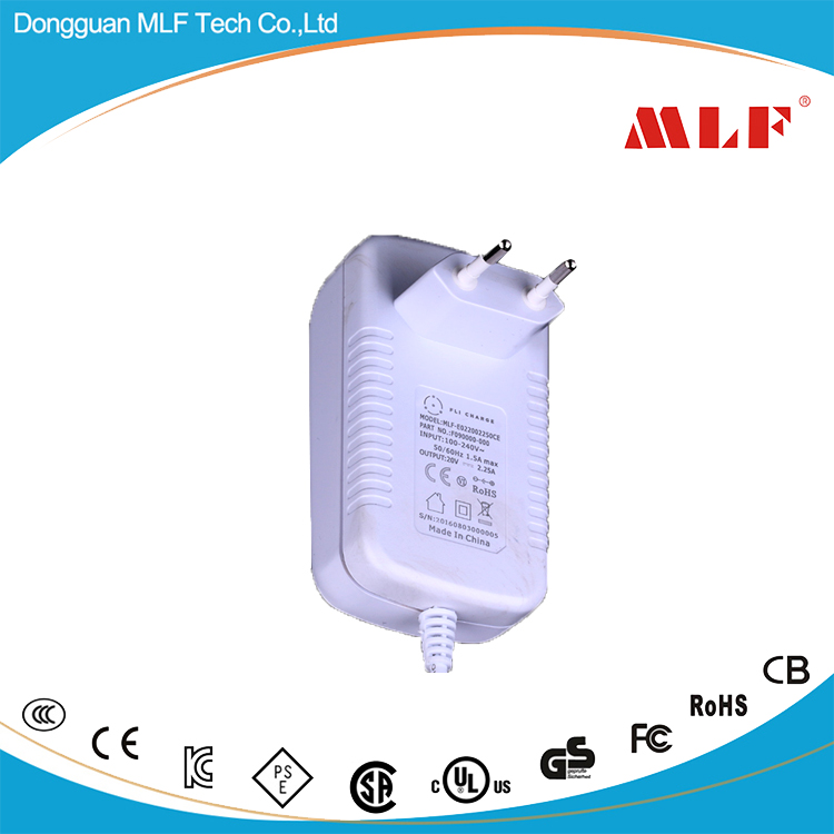 Factory directly offer 20V US monitor travel plug adaptor Best selling top Quality
