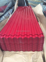 red color coated galvanized /galvalume 22 24 26 gauge color corrugated metal steel zinc roofing sheets price per sheet