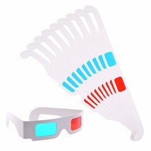 Promotional custom logo paper 3d glasses Red and Cyan cardboard 3D Glasses with White Frame