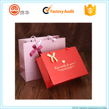 Luxury custom gold stamped wedding gift paper bag