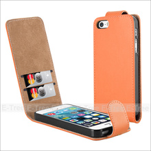 Factory custom Magnet Flip leather PU cover case for Apple Iphone 5 5s SE