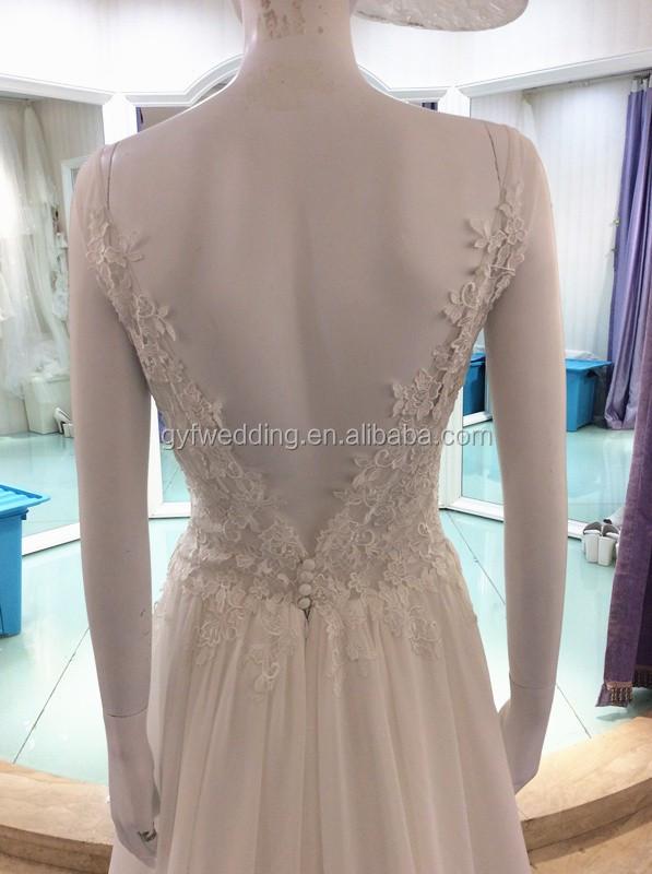 Guangzhou wedding market bohemianv neck lace low back for Guangzhou wedding dress market