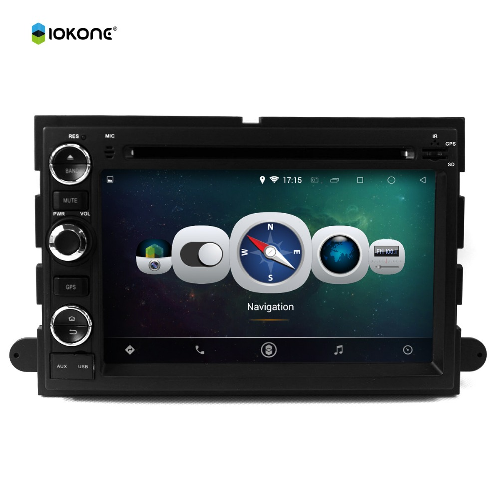 Android 4.4 pure 3g wifi 2 din 7 inch car dvd player with gps navigation for Ford Focus F150 2006-2009