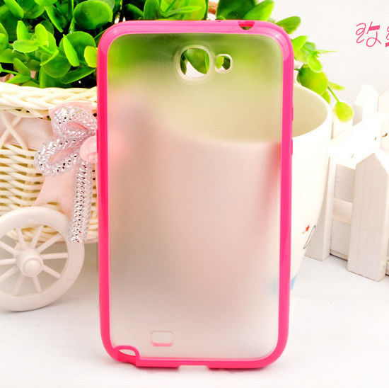 Matte PC&TPU Soft Bumper Hard Back Case Cover for Samsung Galaxy Note 2 II N7100
