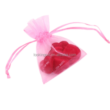 for wedding gift custom made organza candy flowers bag