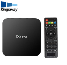 2017 wholesale TX5 PRO android 6.0 Amlogic S905X 2G 16G tv box xbmc full hd 1080p satellite receiver software upgrade