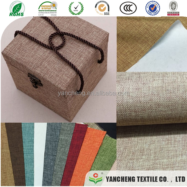 white thin paper based linen fabric for gift box binding and stick
