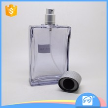 A1505-90ML empty clear glass luxury men style car perfume bottle hanging for sale