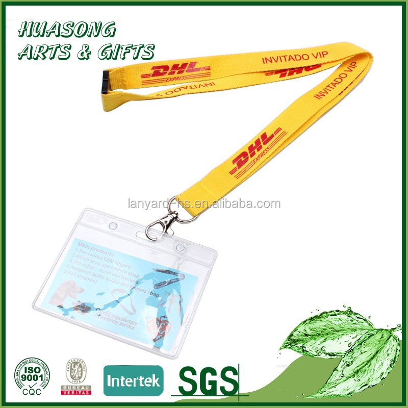 Online custom design creative card holder lanyard with logo