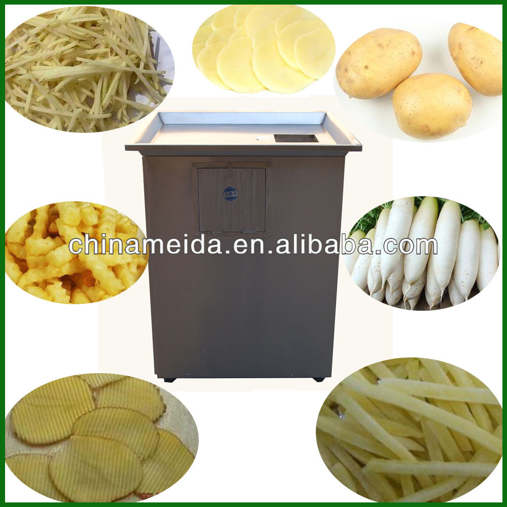 Factory Price Capacity 100-1000kg/h Electric french fry potato cutter Vegetable Cutter Machine