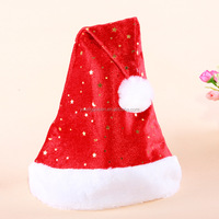 CM12 short plush gold velvet composite gold moon and the stars and colorful sequined hat Christmas hats wholesale