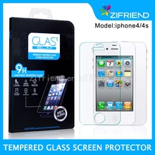 Factory Price Cell phone accessories tempered glass screen protector for Iphone 4 Iphone4S ODM/OEM