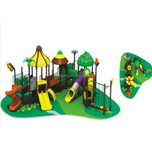 Outdoor used kids playground slides equipment tiles