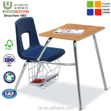 Wholesale School Furniture classroom desk with chair for students