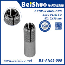 Hot Sale Galvanized Screw Anchor Drop in Anchor with Plug