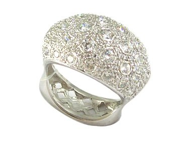 Men 925 Sterling Silver Ring Hip Pop Micro Pave cz rings