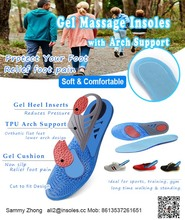 Comfort Shoe Inserts Shock Absorption Silicone Gel Sports Insoles Pain Relief
