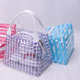 2018 Factory Direct Sale Wholesale Elegant Fashion Purplish Transparent Plastic Travel Beach Clear PVC Tote Bag