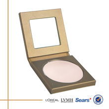 2016 wholesale bronze empty cosmetic compacts for powder
