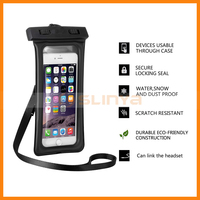 Bulit-in Armband Slot And Headphone Audio Jack Universal Mobile Phone Music Waterproof Case