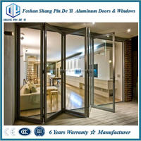 Soundproof lowes glass interior folding doors