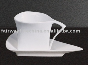 New Arrival Luxury Cappuccino and Espresso Porcelain coffee cup and saucer