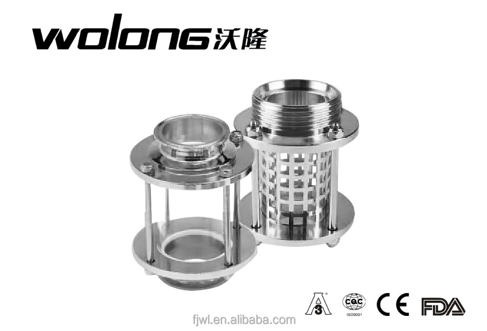 Stainless steel straight union flanged oil level sight