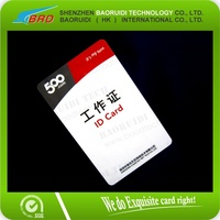 Standard Blank White Photo ID CR80 PVC Cards