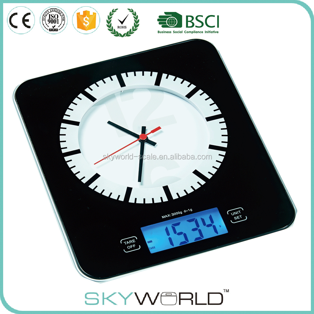 TY3109 5kg*1g digital kitchen scale with clock