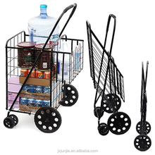 2018 top quality storage cart trolley with wire baskets on wheels