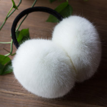 Winter Warm Faux Rabbit Fur Earmuff Girls Earflap Women Men Ear Muff