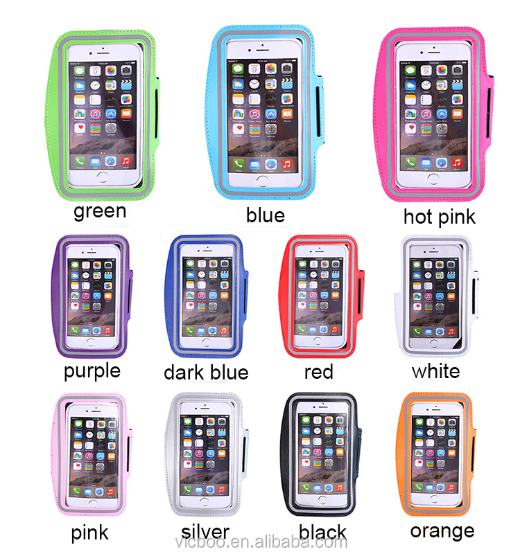 Good Quality Fitness Running armband neoprene mobile phone Sport Armband Case with Key Holder