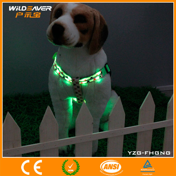 New 2016 factory price hotsale led pet harness