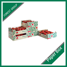 WAX-COATED CORRUGATED CARDBOARD TRAYS FRESH VEGETABLE PACKING CARTON BOX WITH CUSTOM PRINT