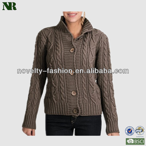 Thick Cardigan Merino Wool Sweaters For Women