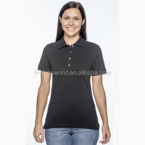 Cheap new design lady jersey t-shirt with collar