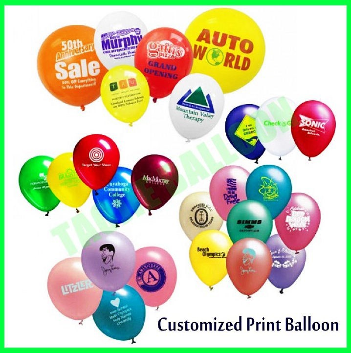 Customized Print latex Balloons for advertising Promotion