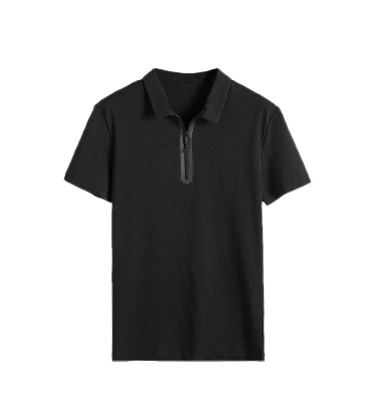 High quality blank pure color custom design breathable men polo t shirt with zip