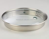 High quality tempered cookware parts spill-proof glass lid for soup pot