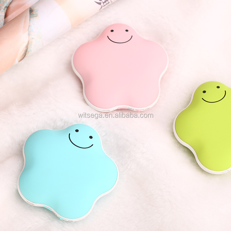 ABS Material Electric Recharge Mini Hand Warmer & Power Bank