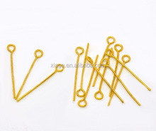 China Cheap Wholesale 18mm Gold Plated Alloy Eye Pins