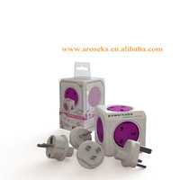 1840/UKRW4P Allocacoc PowerCube Orchid Purple 10A/230V For UK Sockets Type