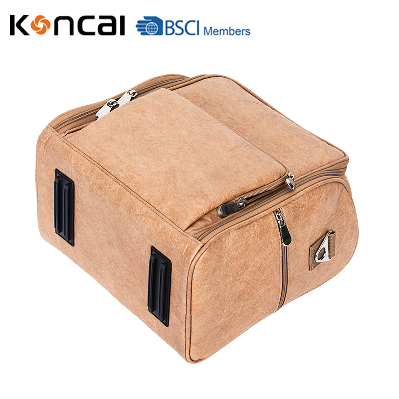 KONCAI Fashion Cosmetic Bag PU leather case with PVC bags