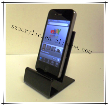 Factory sell black Acrylic Mobile Phone Holder Display Stand