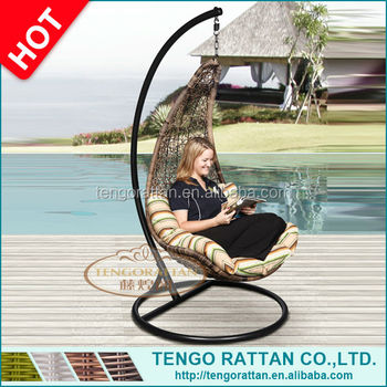 Very popular wicker patio garden hanging swing chair(Y9085)