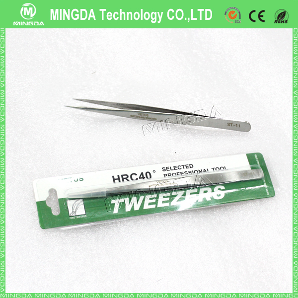 Factory sale ST Series Stainless Tweezers , ST /10 /11 /12 /13 /14 /15 /16 antistatic esd tweezers with high quality